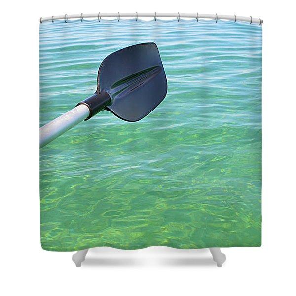 Paddling Grand Traverse Bay Shower Curtain