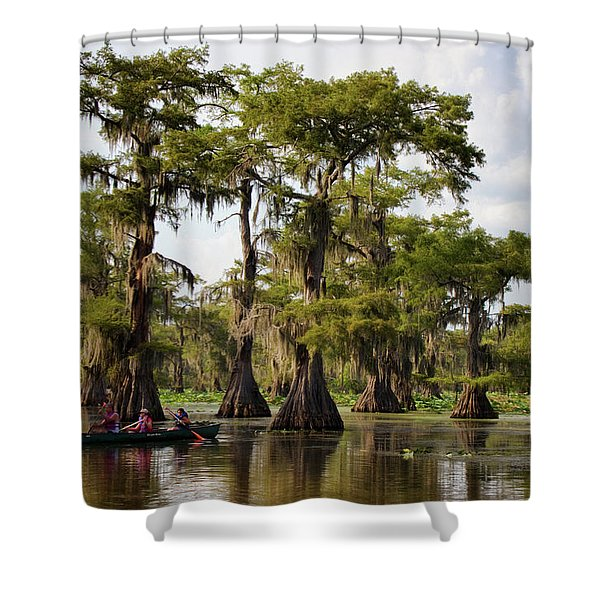 Paddling In The Bayou Shower Curtain