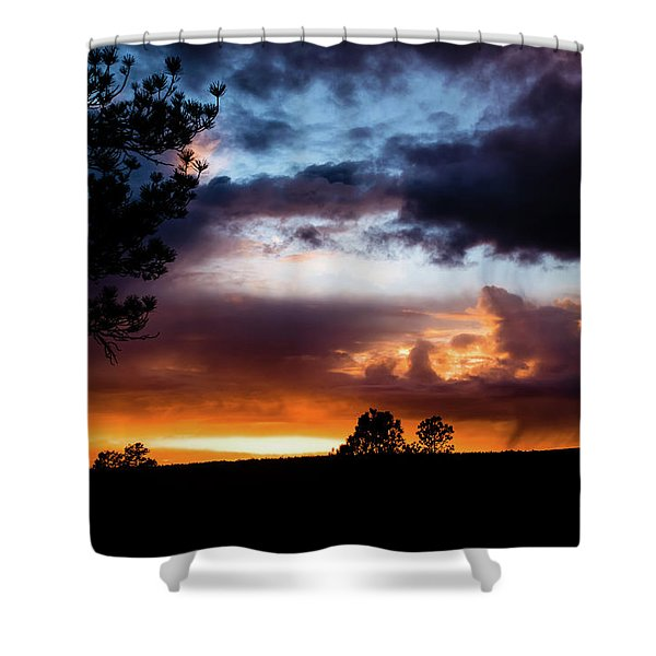 Shower Curtain featuring the photograph Pagosa Sunset 11-20-2014 by Jason Coward