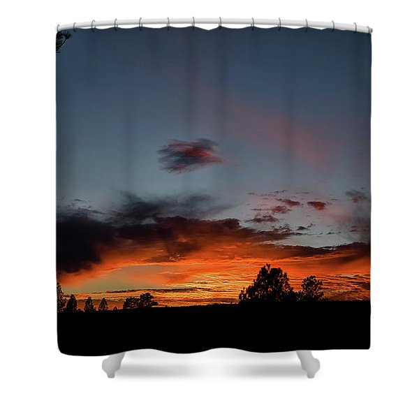 Shower Curtain featuring the photograph Pagosa Sunset 11-30-2014 by Jason Coward