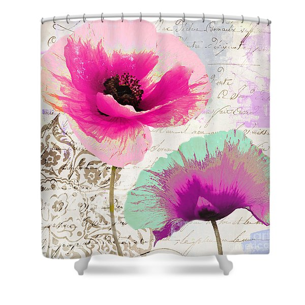 Paint And Poppies II Shower Curtain