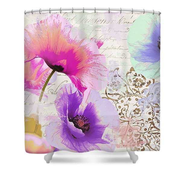 Paint And Poppies Shower Curtain