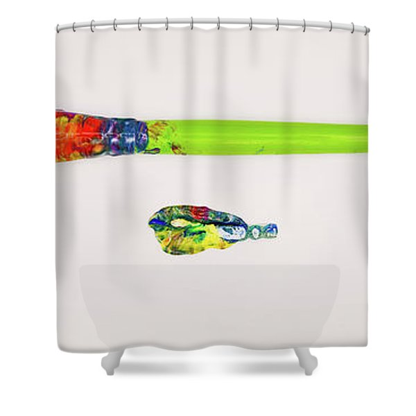 Paint Brush Of The Soul Shower Curtain