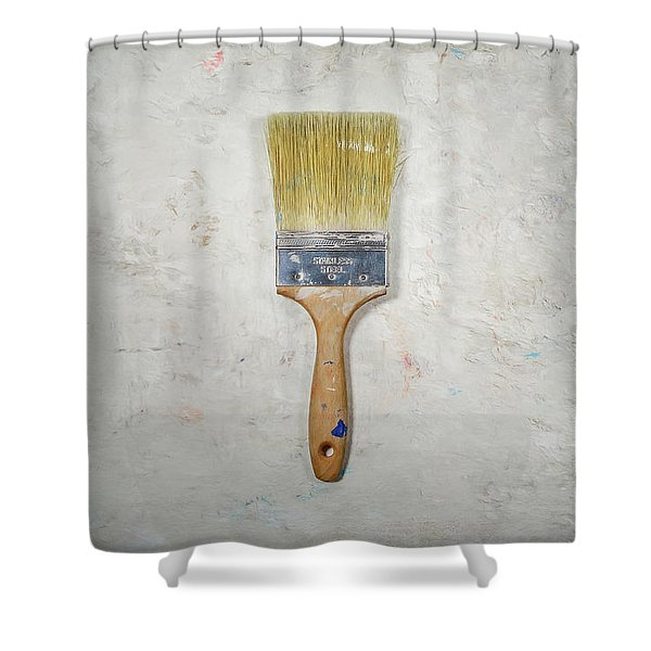 Paint Brush Shower Curtain