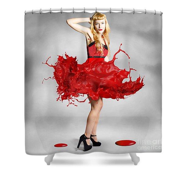 Paint Dress Pin-up Shower Curtain