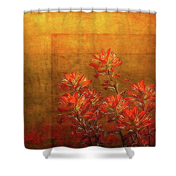 Paintbrush On The Horizon Shower Curtain