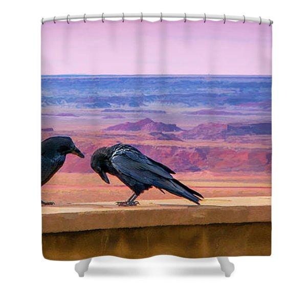 Painted Desert Pals Shower Curtain