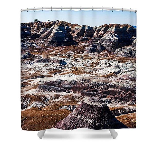 Painted Desert Purple Peak Shower Curtain