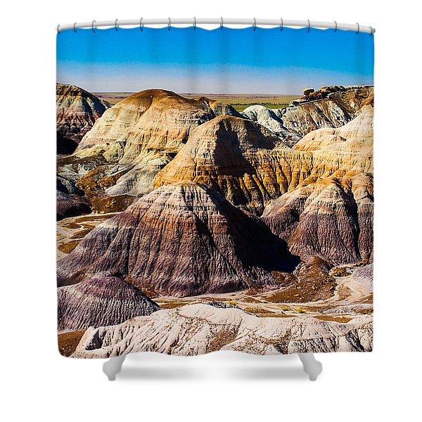 Painted Desert Yellow Bands Shower Curtain