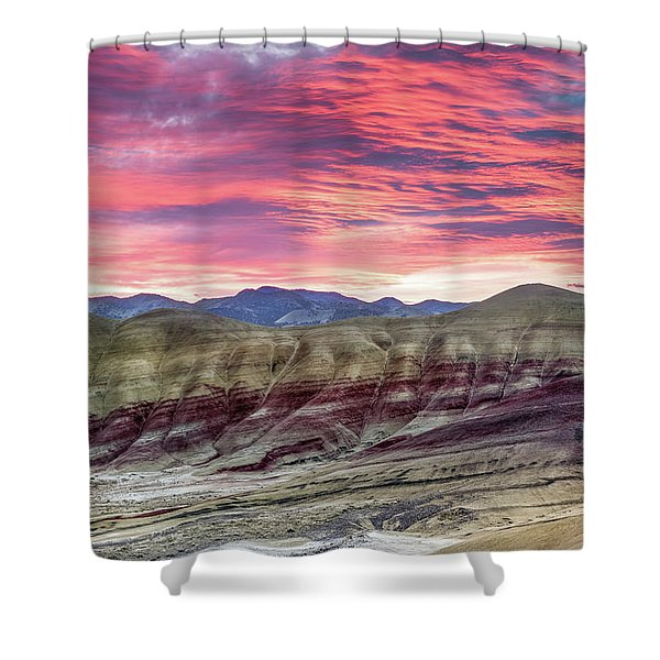 Painted Hills Sunrise Shower Curtain