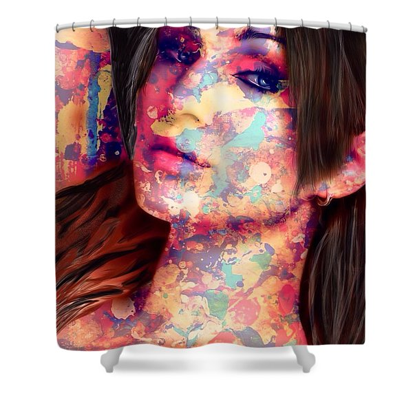 Shower Curtain featuring the painting Painted Lady by Mark Taylor