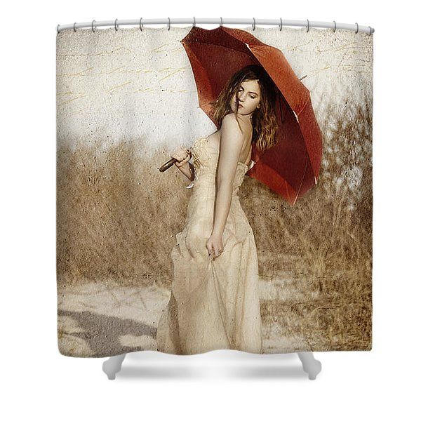 Painted Lady Narrow Shower Curtain