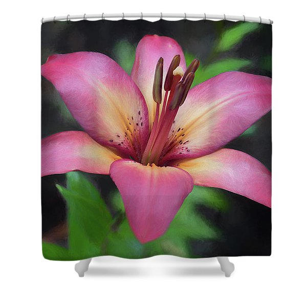 Painted Lily Shower Curtain