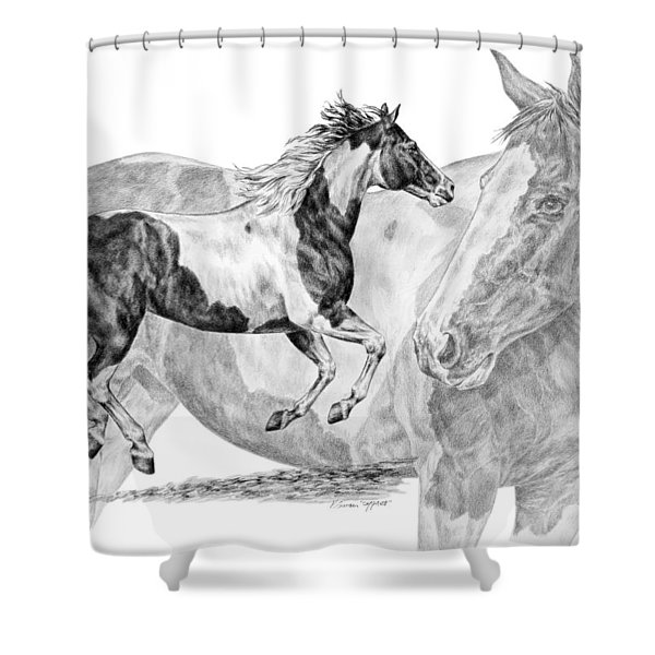Painted Passion - Paint Horse Art Print Shower Curtain