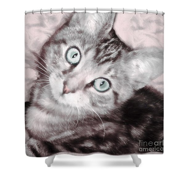 Pastel Bengal Kitten Shower Curtain