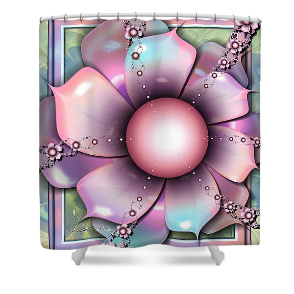 Painted Petals Shower Curtain