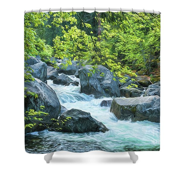 Painted River Shower Curtain