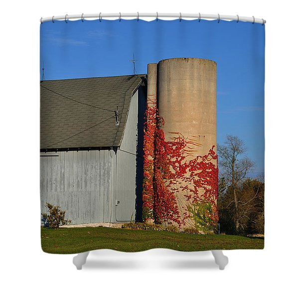 Painted Silo Shower Curtain