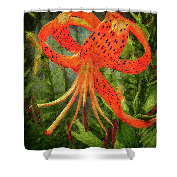 Painted Tiger Shower Curtain