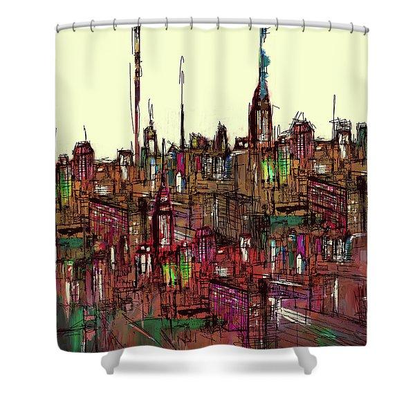 Painting 775 1 New York Skyline Shower Curtain