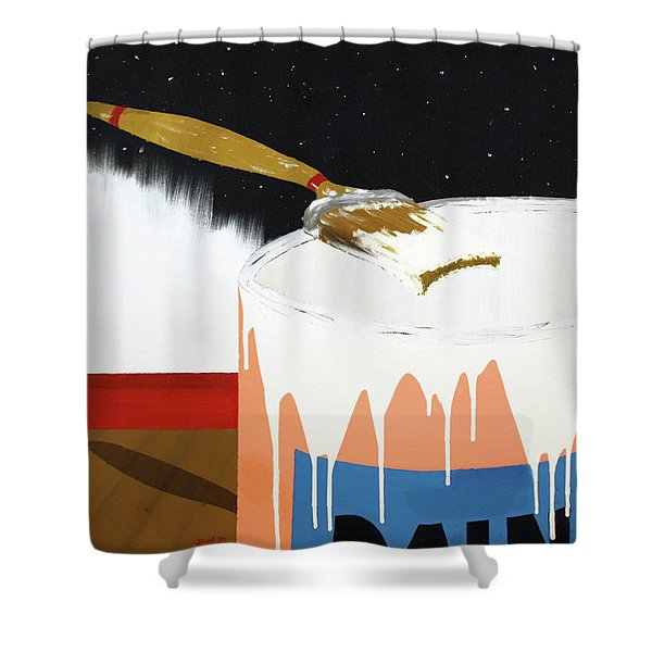 Painting Out The Sky Shower Curtain