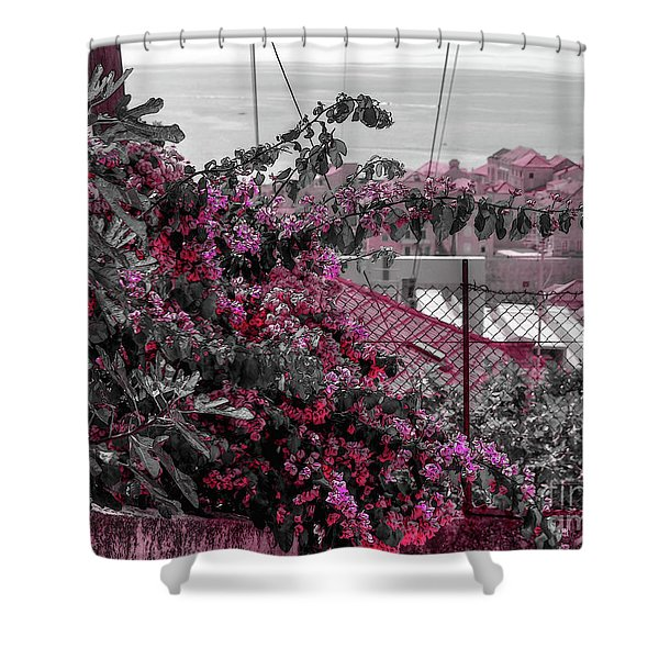 Painting The Town Red Shower Curtain