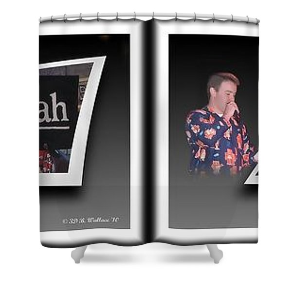 Pajama Night - Gently Cross Your Eyes And Focus On The Middle Image Shower Curtain by Brian Wallace