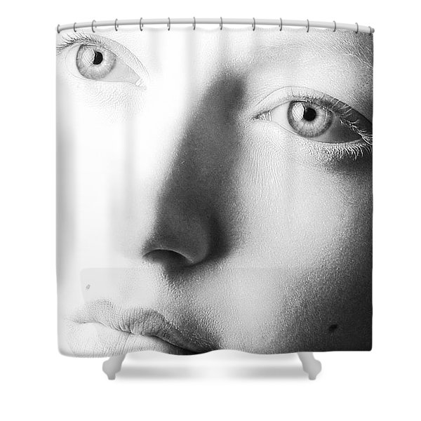 Pale Moonlight Shower Curtain