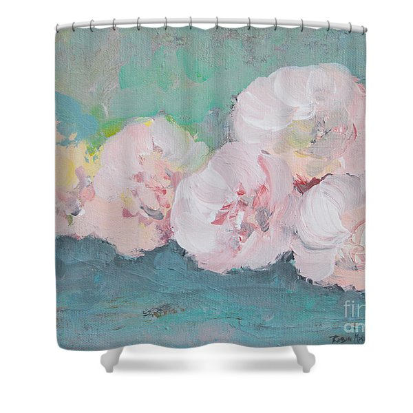Pale Pink Peonies Shower Curtain