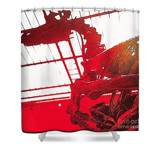 Paleo Figther Shower Curtain