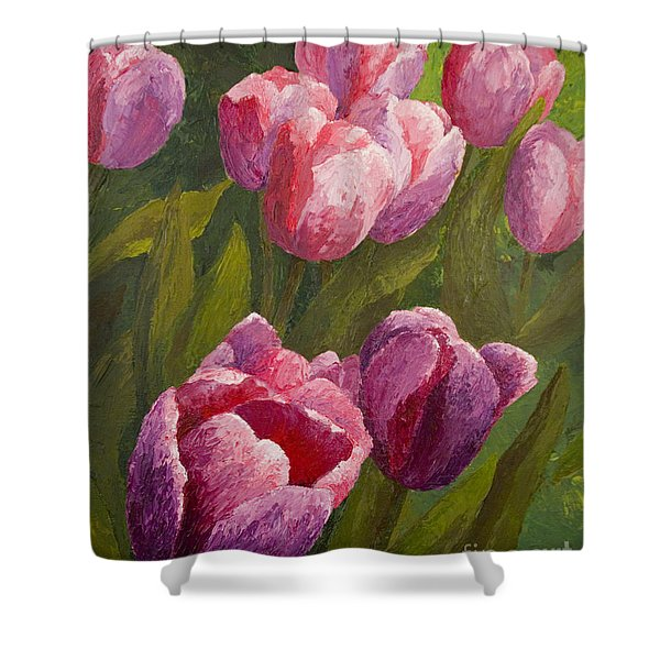 Palette Tulips Shower Curtain