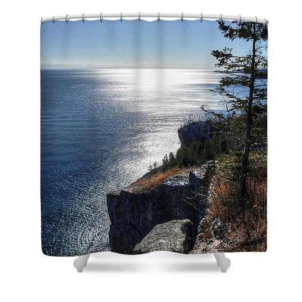 Palisade Head Lake Superior Minnesota Winter Afternoon Shower Curtain