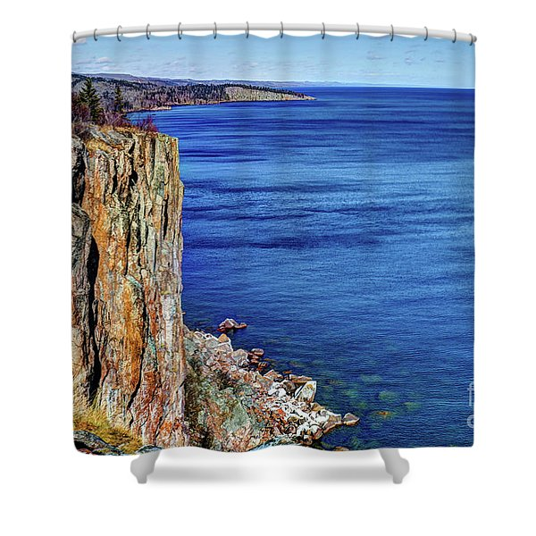 Palisade Head Tettegouche State Park North Shore Lake Superior Mn Shower Curtain