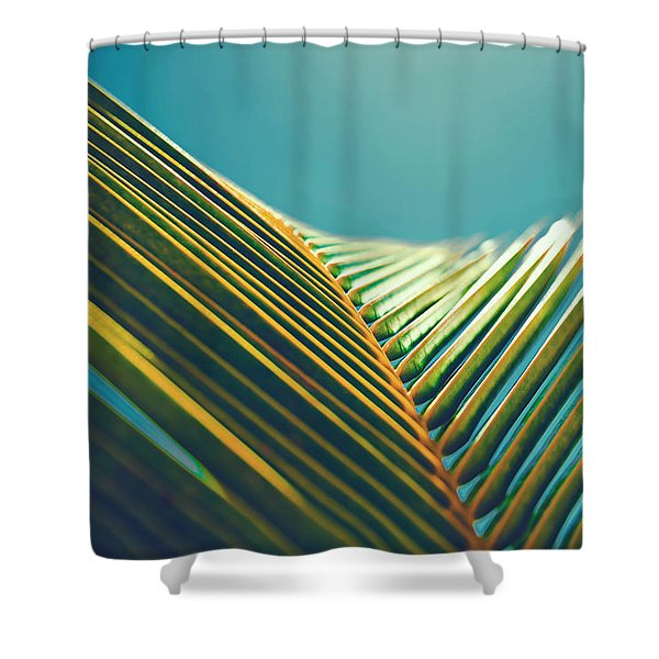 Palm Leaves In The Sun Shower Curtain