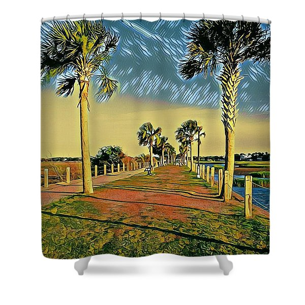 Palm Parkway Shower Curtain