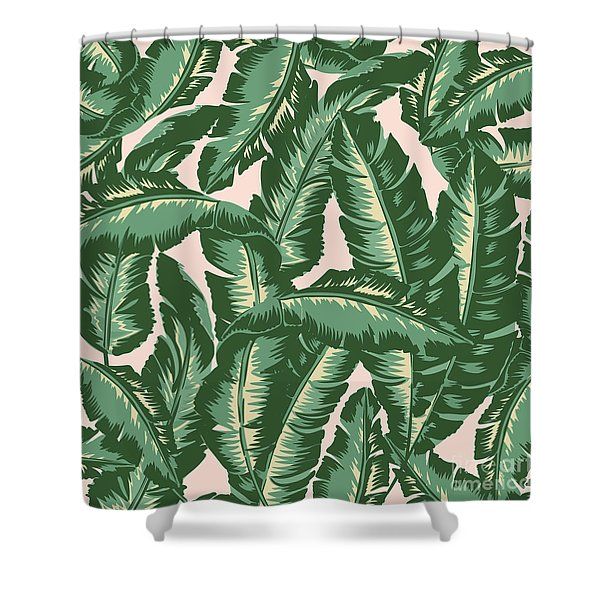 Palm Print Shower Curtain