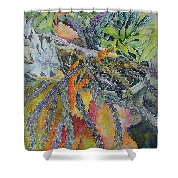 Palm Springs Cacti Garden Shower Curtain