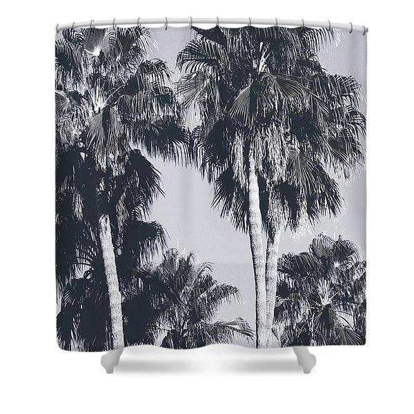 Palm Springs Palm Trees- Art By Linda Woods Shower Curtain