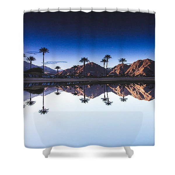 Palm Springs Reflection Shower Curtain