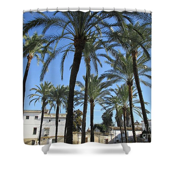 Palm Trees In Jerez Shower Curtain