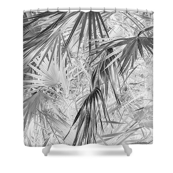 Palmettos Negatives Shower Curtain