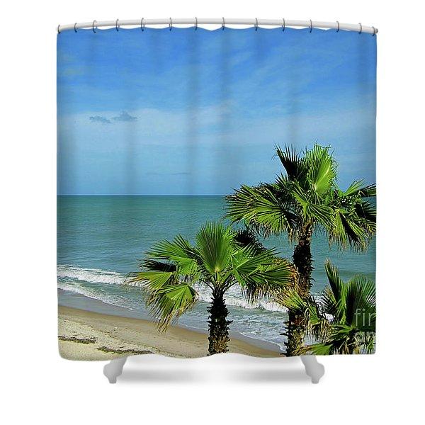 Palms At Vero Beach Shower Curtain