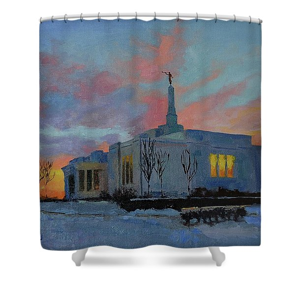 Palmyra Temple At Sunset Shower Curtain