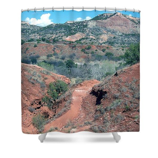 Shower Curtain featuring the digital art Palo Duro Canyon by Deleas Kilgore