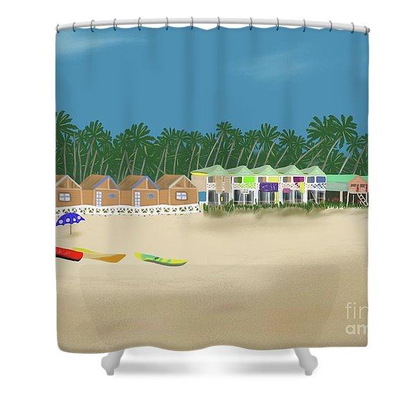 Palolem Beach Goa Shower Curtain