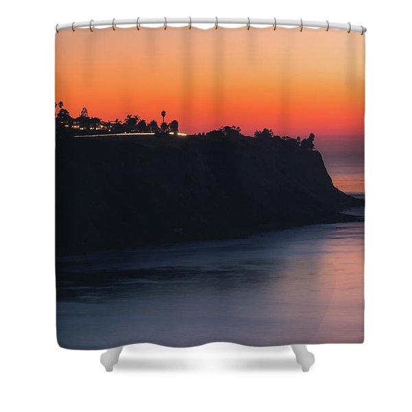 Palos Verdes Coast After Sunset Shower Curtain