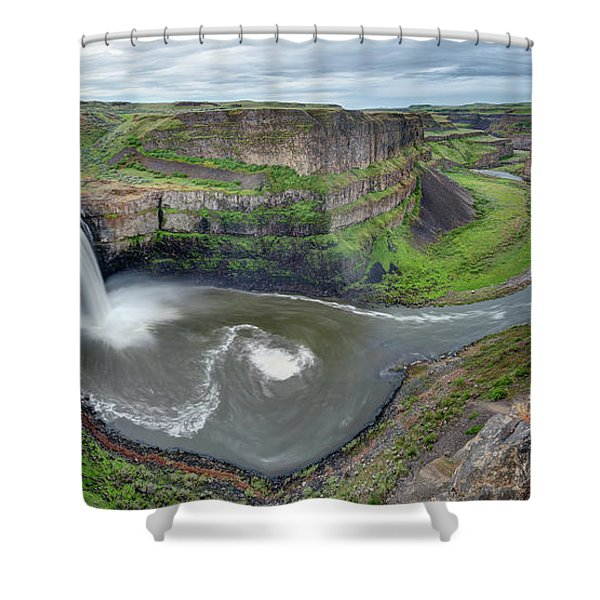 Palouse Falls In The Spring Shower Curtain