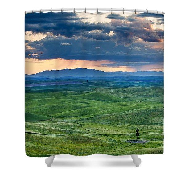Palouse Storm Shower Curtain