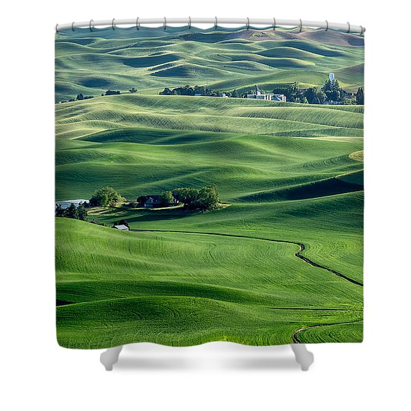 Palouse Wheat Farming Shower Curtain