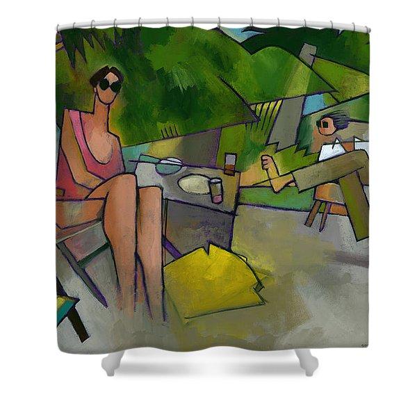 Pam And Randy At Lanikai Shower Curtain